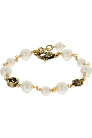 Gucci Gg Flower Imitation Pearl Bracelet