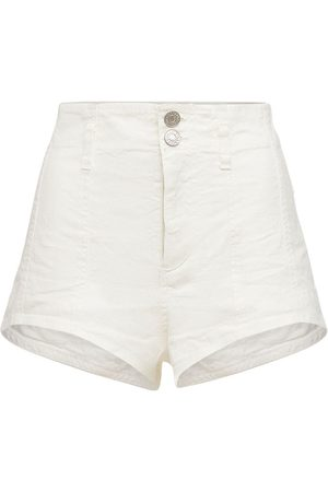 Isabel Marant Deversonbb High Waist Linen Blend Shorts