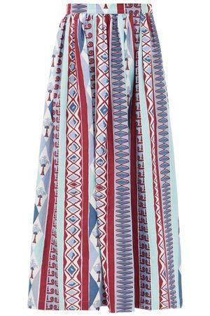 LE SIRENUSE, POSITANO Women Printed Skirts - New Jane Arlecchino-print Cotton-poplin Midi Skirt - Womens - Print