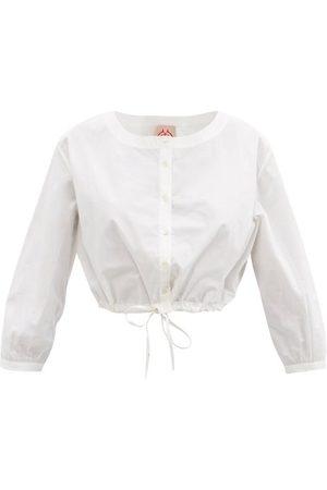 LE SIRENUSE, POSITANO Women Crop Tops - Jinny Cotton Cropped Top - Womens