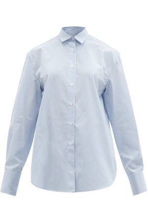 Another Tomorrow Men's Oversized Striped Cotton-poplin Shirt - Womens