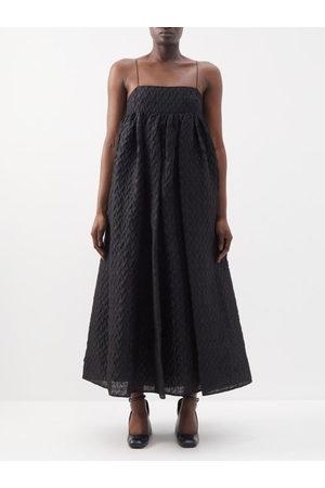 Cecilie Bahnsen Edition Beth Square-neck Linen-blend Cloqué Dress - Womens