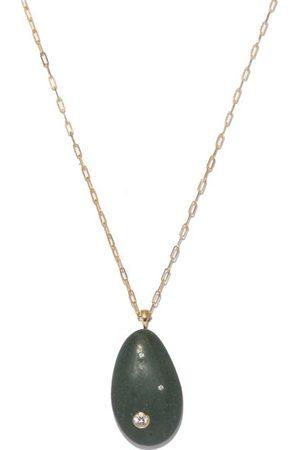 CVC STONES Women Necklaces - Pistachio Diamond & 18kt Gold Necklace - Womens