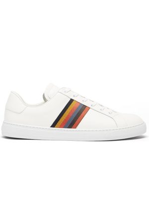 Paul Smith Hansen Stripe Leather Trainers - Mens - Multi