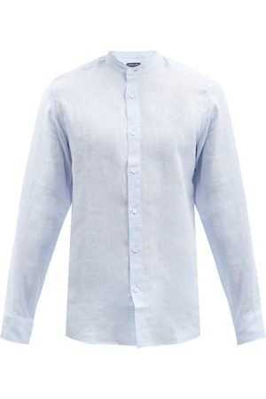 Frescobol Carioca Jorge Slubbed Linen-muslin Shirt - Mens - Light