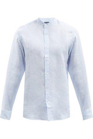 Frescobol Carioca Men Shirts - Jorge Slubbed Linen-muslin Shirt - Mens - Light