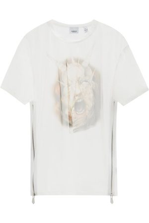 Burberry Sea Maiden-print Organza T-shirt - Mens