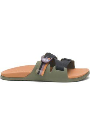 Chaco Men Sandals - Men's Chillos Slide Patchwork Moss, Size 7 Medium Width