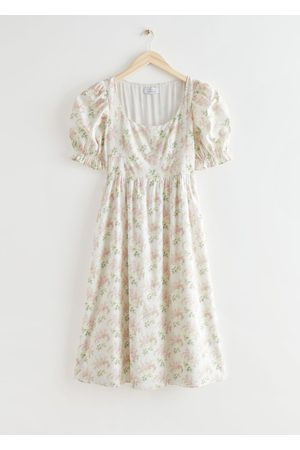 & OTHER STORIES Women Printed Dresses - Floral Print Scoop Neck Midi Dress
