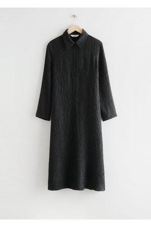 & OTHER STORIES Textured Silk Midi Dress