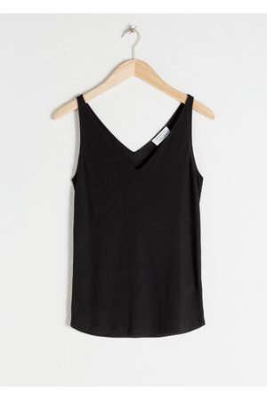 & OTHER STORIES Women Tank Tops - Ribbed V-Neck Top
