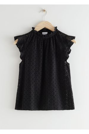& OTHER STORIES Women Blouses - Frilled Broderie Anglaise Blouse