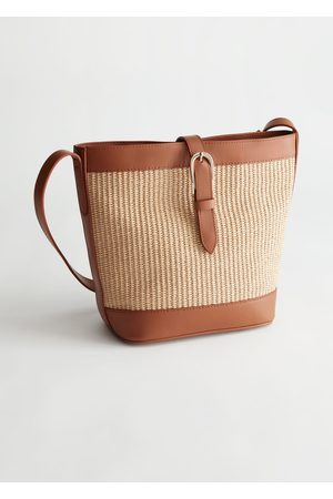 & OTHER STORIES Women Purses - Leather Trim Woven Bucket Bag