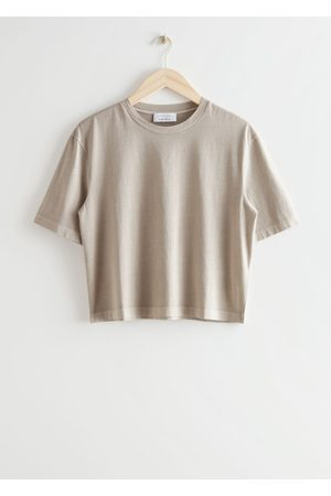 & OTHER STORIES Women T-shirts - Cropped Crewneck T-Shirt