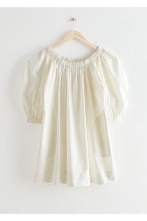 Other Stories Women Party Dresses - Voluminous Puff Sleeve A-Line Mini Dress