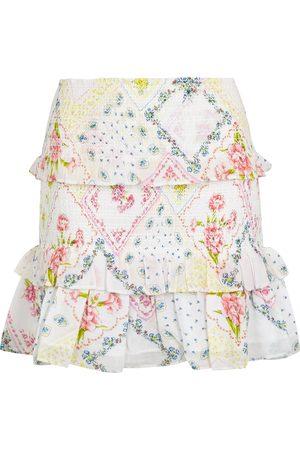 LOVESHACKFANCY Sicily floral-print cotton mini skirt