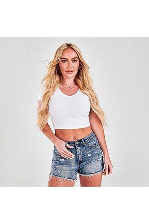 Supply & Demand Women's Ella Denim Shorts in /Indigo Size 33 Cotton/Denim