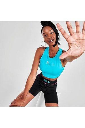 Fila Women's Alva Athletic Crop Top in /Scuba Size X-Small Polyester/Spandex/Knit