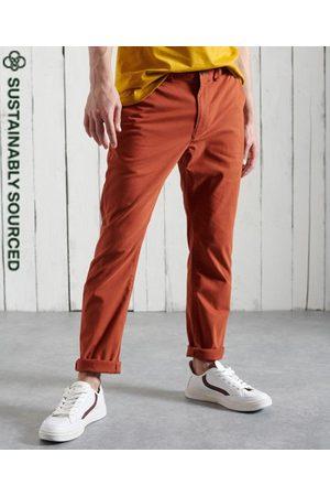Superdry Men Chinos - Organic Cotton Core Slim Chino Trousers