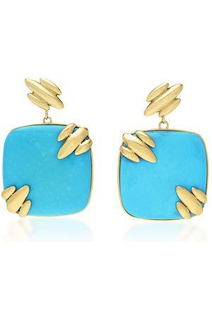 Rush Women's Droplet Jojo 18K Yellow Gold Turquoise Earrings - - Moda Operandi