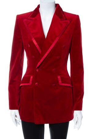 Dolce & Gabbana Velvet Double Breasted Blazer S