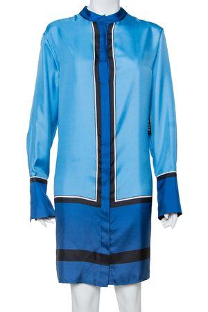 Diane von Furstenberg Diane Von Fustenberg Silk Satin Oversized Shirt Dress M