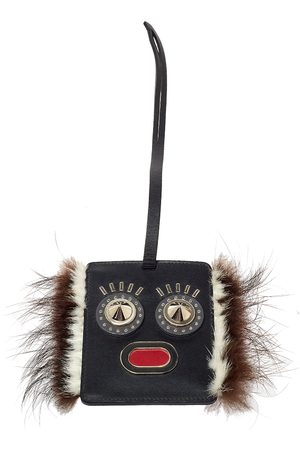 Fendi Leather Studded Monster Luggage Charm