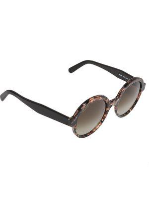 Salvatore Ferragamo Havana/ Gradient SF878S Round Sunglasses