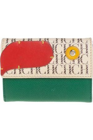 CH Carolina Herrera Carolina Herrera Monogram Leather Compact Wallet