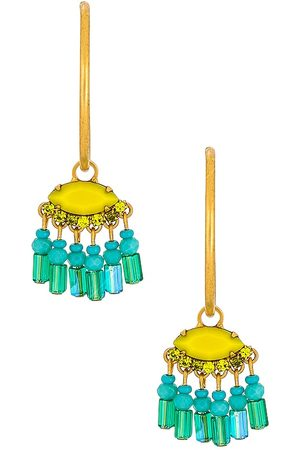 ELIZABETH COLE Misha Earrings in Metallic Gold, .