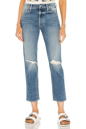 Mother The Trickster Ankle Skinny in Blue.