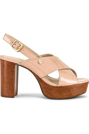 KENDALL + KYLIE Shian Patent Sandal in Nude.