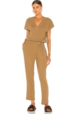 ATM Anthony Thomas Melillo High Torison Jumpsuit in Tan.