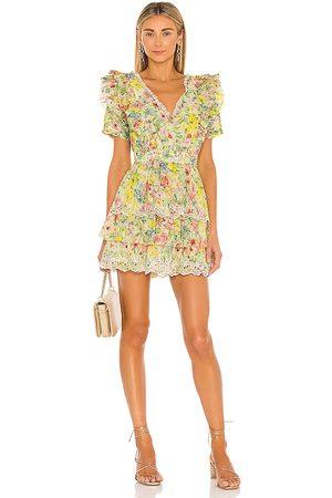 LOVESHACKFANCY Love Shack Fancy Aldina Dress in Yellow.