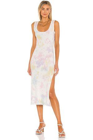 LOVESHACKFANCY Citra Midi Dress in Pink,Blue.