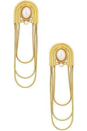 8 Other Reasons Front Facing Earrings in Metallic .