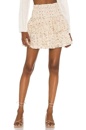 Cleobella Kate Mini Skirt in Neutral.