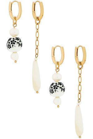 8 Other Reasons Huggie Earrings Set in Metallic .