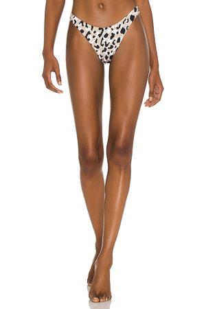 Vitamin A California High-Leg Bikini Bottom in Tan.
