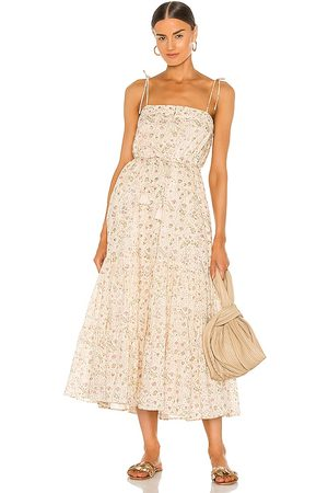 Cleobella India Midi Dress in Neutral.
