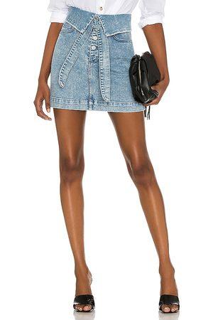 Le Jean High Rise Freya Skirt in Blue.