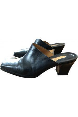 Porta Romana \N Leather Mules & Clogs for Women