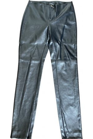 Manila Grace \N Vegan leather Trousers for Women