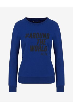 Armani Women Sweatshirts - Sweatshirt Ultramarine Cotton