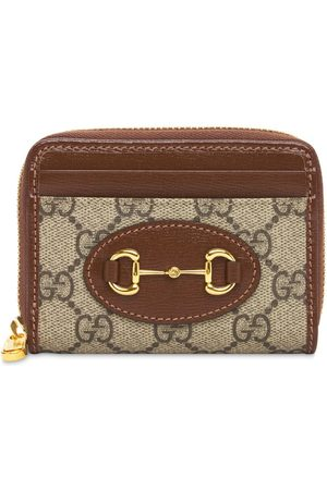 Gucci Women Purses - Monogram Horsebit 1955 Card Case