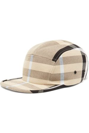 Burberry Men Caps - Checked Cotton-canvas Cap - Mens - Multi