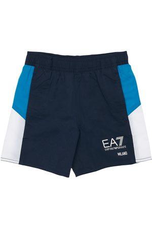 EA7 Logo Print Nylon Swim Short