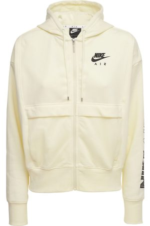 Nike Women Hoodies - Logo Cotton Blend Zip Sweatshirt Hoodie