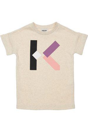 Kenzo Girls Printed Dresses - Logo Print Cotton Dress