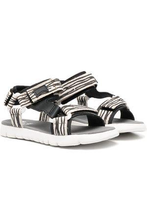 Camper Oruga metallic-sheen sandals - Neutrals